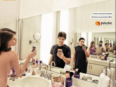 Campanha da Ong SaferNet Brasil que alerta sobre os perigos do Sexting — Ong ajuda na conscientização e denúncia de casos no Brasil