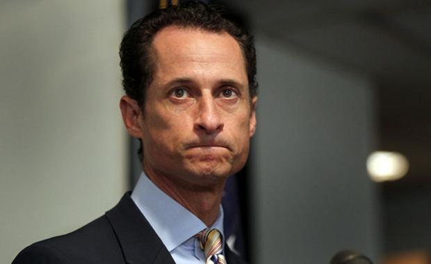 O político do partido Democrata, Anthony Weiner, em uma foto comportada