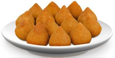 Figura 2. Coxinhas de frango com seu formato característico e tamanho proporcional, gerando um padrão de produto