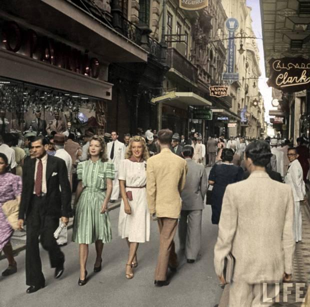 Rua do Ouvidor, Rio de Janeiro, 1941 - Reprodução: http://rioantigo.org/?p=68